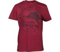 Kangaroo Poo Herren Swordfish T-Shirt Burgundy