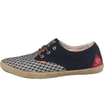 Mens Skipper Shoes Navy Woven