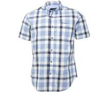Checked Hemd mit kurzem Arm Blau