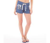 Superdry Damen JPN 23 Sparkle Easy Ensign Hotpants Blau