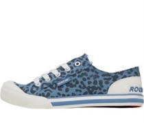 Damen Jazzin Alleycat Baumwolle Freizeit Schuhe Blau