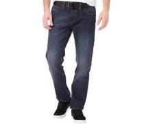 Herren Commodus Jeans mit geradem Bein Dunkelblau