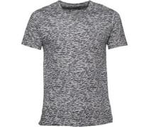 Herren Leopard T-Shirt Hellgrau