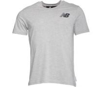 Herren Logo Graphic T-Shirt Graumeliert
