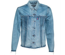The Altered Trucker Jeansjacke Verbleichtes Denim