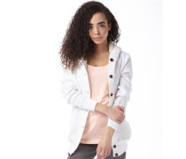 adidas Neo Womens Sherpa Knitted Cardigan White