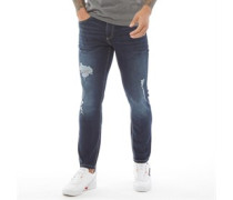 Kinistion Skinny Ripped Jeans Dunkel