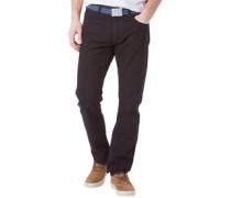 Herren Jeans mit geradem Bein Schwarz