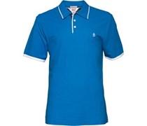 Herren Tri Colour Mearl diver Polohemd Blau