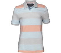 Original Penguin Herren Birdseye Colour Block High Rise Polohemd Gestreift