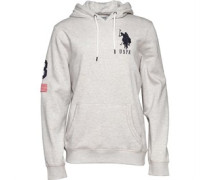 U.S.POLO ASSN.Mens Roark Hoody Light Grey Marl