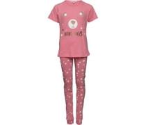 Mädchen PJ Set Nachthemd Rosa