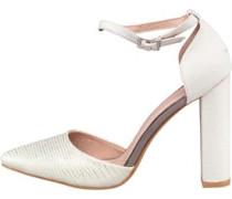 AX Paris Womens Kennedy Block Heel Shoe White