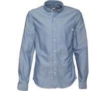 Herren Pleasant River Dobby Hemd mit langem Arm Blau