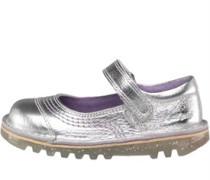Mädchen Kleinkind Pop Schuhe Metallic Silber
