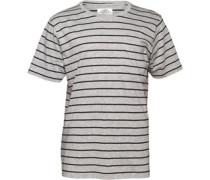 Kangaroo Poo Herren  T-Shirt Grey Marl/Black