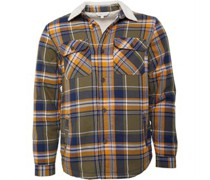 Yarn Dyed Checked Over Hemd mit langem Arm