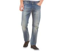 Herren Buster 0849A Jeans mit zulaufendem Bein Mittelblau