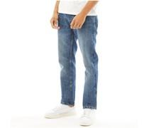 New Embossed Jeans mit geradem Bein