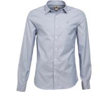 Timberland Herren Lane River Oxford Infinity Yarn Dye Hemd mit kurzem Arm Blau