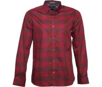 Ted Baker Mens Lostone Tonal Large Check Shirt Red