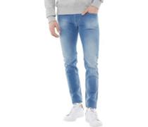 Mens Sleenker Slim Fit Jeans Light Blue Wash