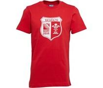 Canterbury Jungen WRU Wales Shield Flag T-Shirt Rot
