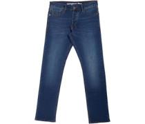 Jeans mit geradem Bein Verblasstes Dunkel
