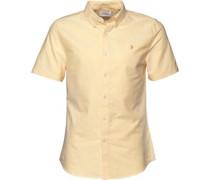 Farah Vintage Herren Brewer Slim Sunburst Hemd mit kurzem Arm Gelb