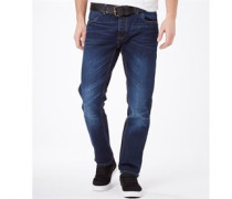 Herren Amigo Jeans mit geradem Bein Verblasstes Dunkelblau