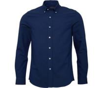 Herren Oxford Hemd mit langem Arm Blau