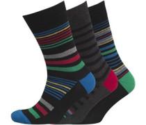 Herren 3 Pack Socken Schwarz