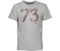 Timberland Mens Sublimination Print Graphic Logo T-Shirt Medium Grey