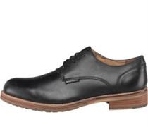 Ben Sherman Mens Pat Lace Shoes Black