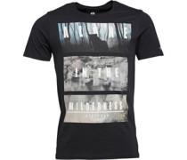 Firetrap Herren Trait Jet T-Shirt Schwarz