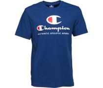 Herren Large Logo T-Shirt Blau