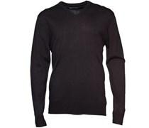Herren Cash V-Neck Pullover mit V-Ausschnitt Schwarz