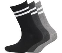 Damen Drei Pack Stripe Socken Mehrfarbig