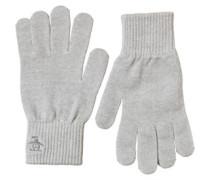 Herren Rib Handschuhe Hellgrau