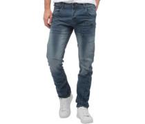 Herren Kractus Utility Jeans in Slim Passform Blau