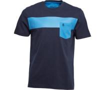 Original Penguin Herren Block Sapphire T-Shirt Blau