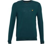Herren Non-ed Merino s Pullover mit Rundhalsausschnitt Grün