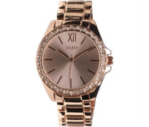 Oasis Womens Diamante Bracelet Watch Rose Gold