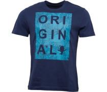 Herren Original Cut Out Parrot Print T-Shirt Navy