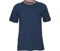 Original Penguin Herren Athletic Seamed T-Shirt Blau