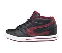 Duffs Junior Shoes Black/Burgundy