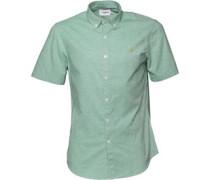 Farah Vintage Herren Steen Slim Summer Hemd mit kurzem Arm Grün
