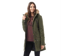 Firetrap Damen Fishtail Grape Parka Jacke Grün