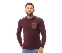 Limit wear Pullover mit Rundhalsausschnitt Burgunder