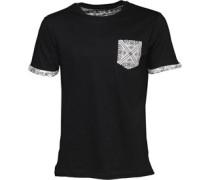 Herren George Pattern T-Shirt Schwarz